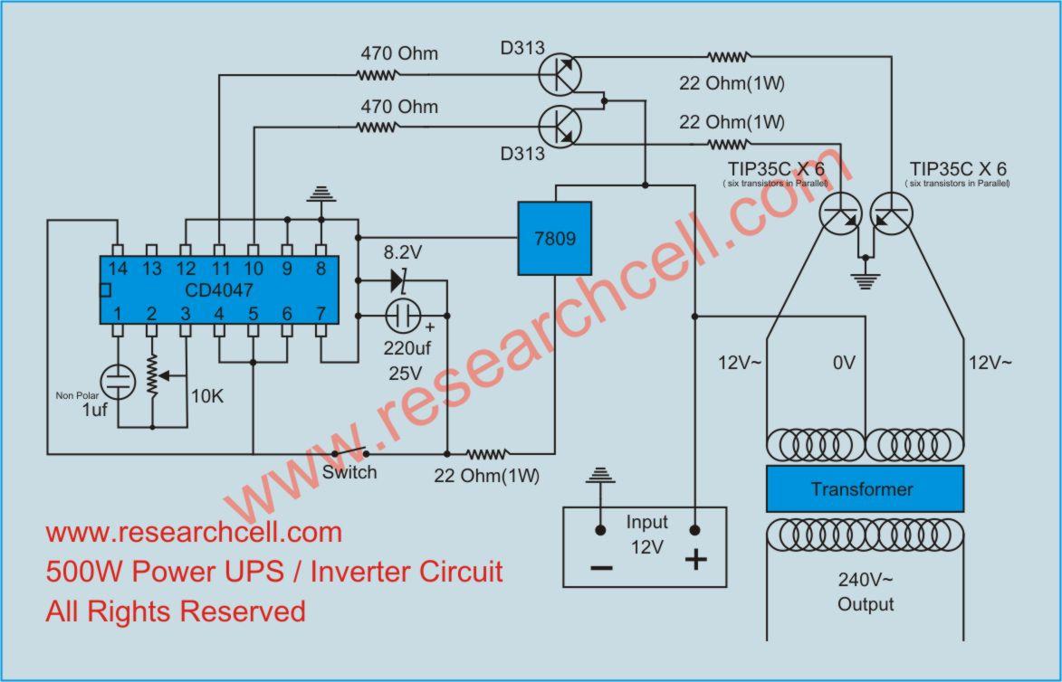 500w Solar Inverter Grid Tie Wiring Diagram Inverter Circuit Diagram 187 Research Cell