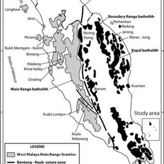 Diagram showing the tectonic evolution of Sundaland