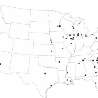 Locations of nuclear power plants in the United States