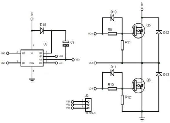 MOSFET power circuit, MOSFET driver circuit and output