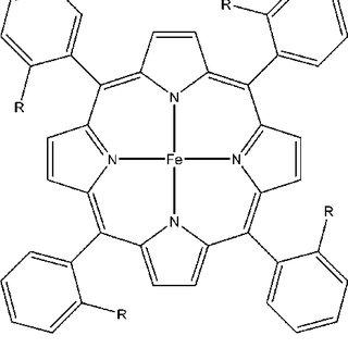 Saveánt iron porphyrin catalyst structure shown to reduce
