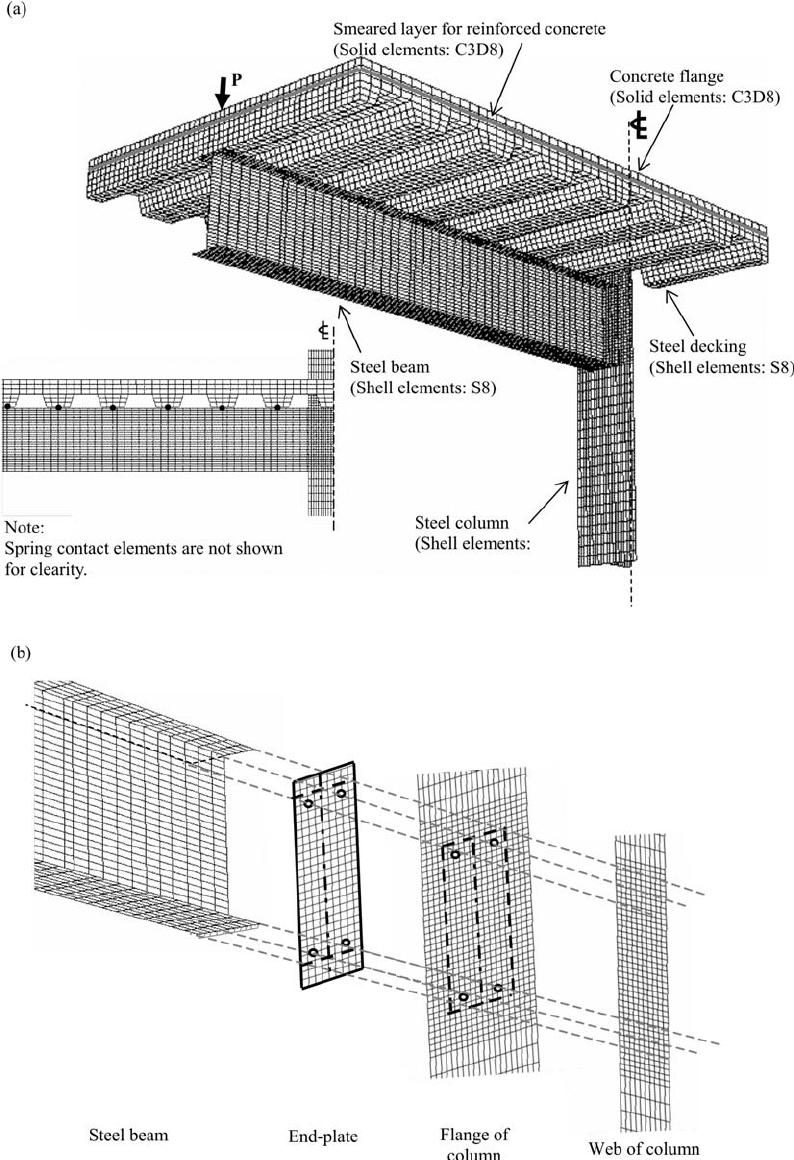 Three-dimensional finite element model of composite