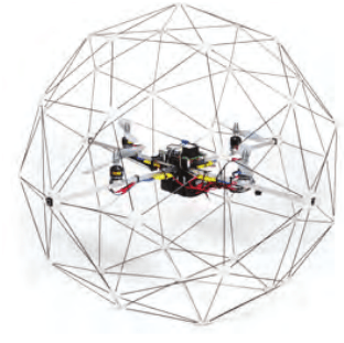 The Quanser Qball-X4 quadrotor UAV and its schematic