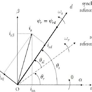 Block diagram of direct field oriented control scheme