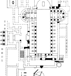 the plan of basilica church and distribution of columns and their numbers for schmidt hammer test [ 850 x 1052 Pixel ]