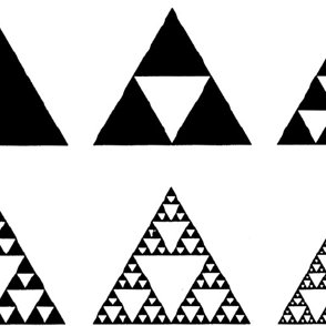 Sierpinski triangle from the zero to the fifth iteration
