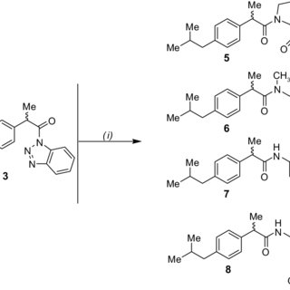 Anti-inflammatory activity of ibuprofen derivatives 5–8