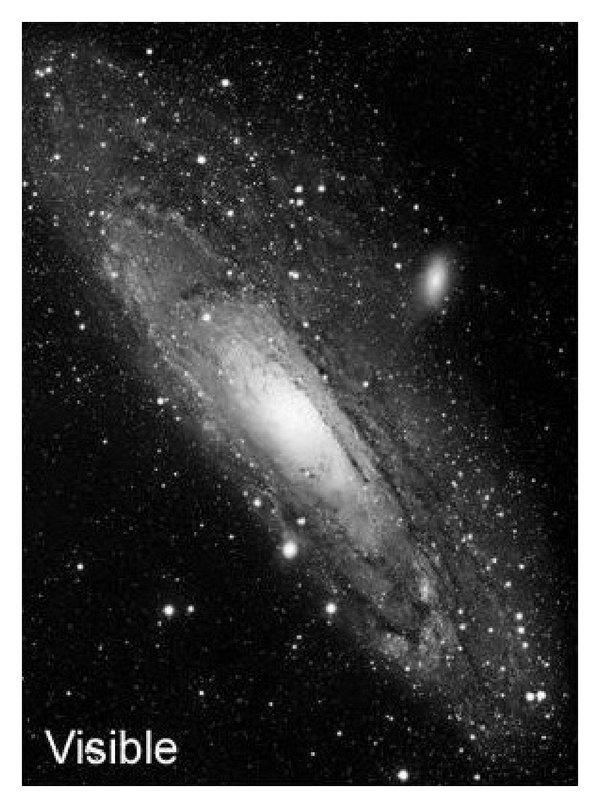 hight resolution of andromeda galaxy m31 a visible image b ir