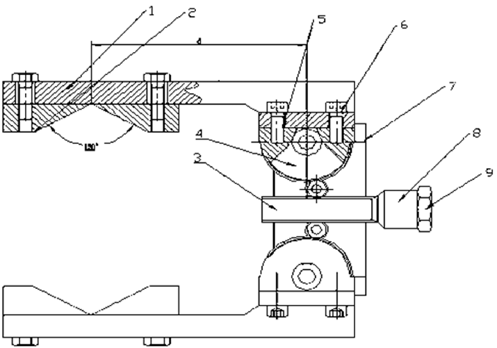 Rack and Pinion hand structure. 1 gripper, 2 finger, 3