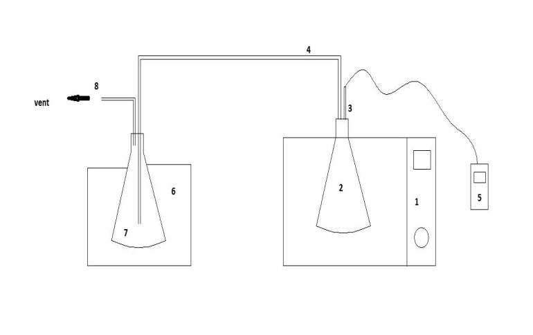 Schematic diagram of microwave pyrolysis system of scrap