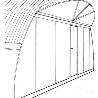 A sketch of a combined solar still and a greenhouse (after