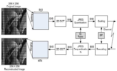 Block diagram of the JPEG-based DCT sche me III. DISCRETE