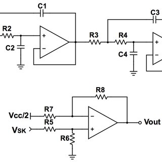 Bode diagram of the Sallen-Key filter: f c = 200 Hz, Q 1