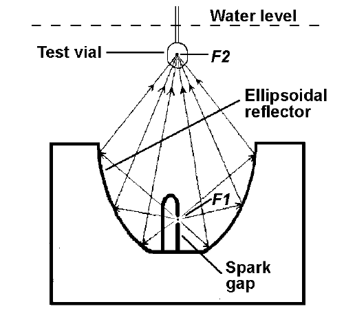 Schematic diagram of the electrohydraulic shock wave