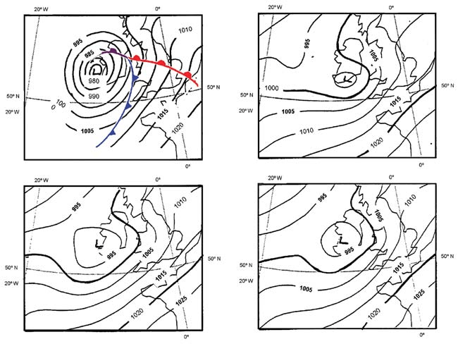 Analysis and forecasts of the Christmas Eve Storm—mean sea