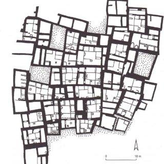 Disposition of a section of Çatal Hüyük, a prehistoric