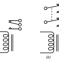 Dpdt Relay Wiring Diagram Epiphone Sheraton 4pdt Schema A An Spdt Circuit Schematic B Dtdp Switch