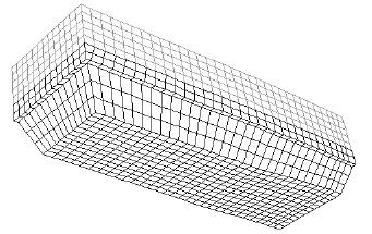 Geometry for the ingot mesh (black-initial liquid metal