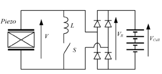 (a) Parallel SSHI circuit; (b) displacement and voltage