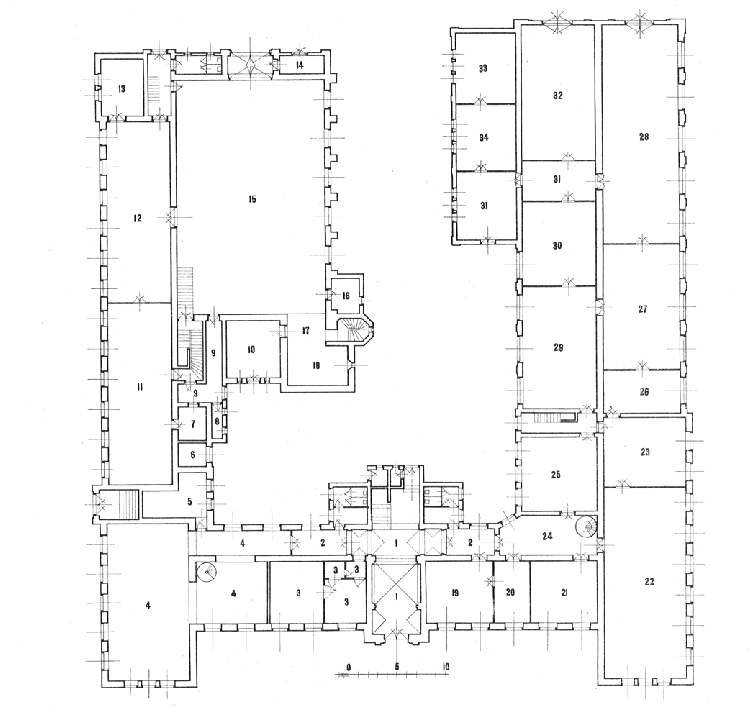 The first floor plan of the Applied and Agricultural