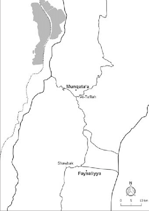 Sites Munqata'a in the al-Tafila directorate and