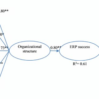 The example of ERP benefits and their interrelationship to