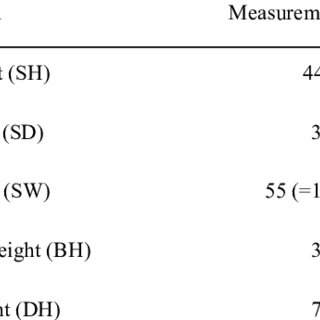 (PDF) Anthropometric Evaluation of the Design of the
