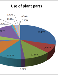 Number of plant parts used for medicinal purpose in pie chart also rh researchgate