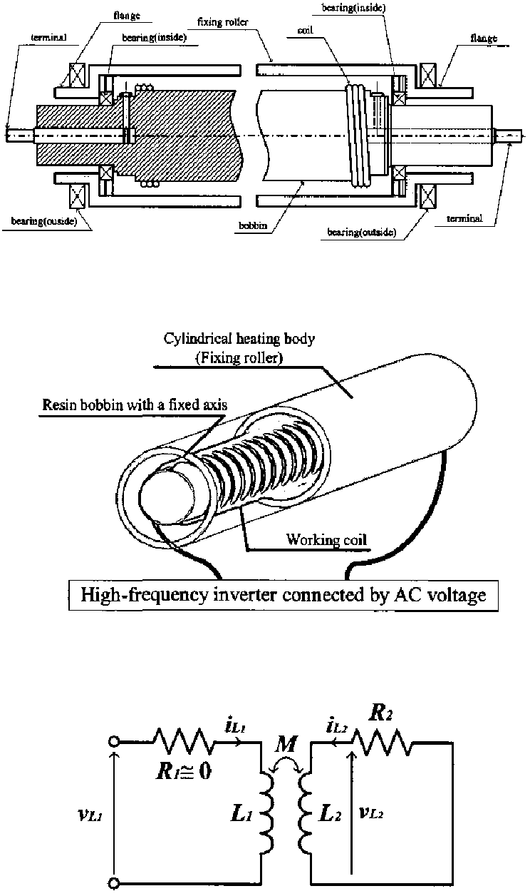 hight resolution of sectional view of toner fusing roller in copy printer equipment