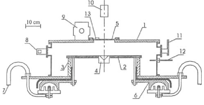 A schematic diagram of Dena plasma focus and its