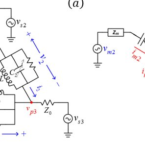 Proposed magnet-less circulator: (a) Complete schematic