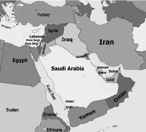 Middle East Map Study Guide