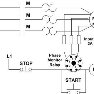 square d 3 phase motor starter wiring diagram ls standalone harness sequence c liquid level relay l is used to monitor