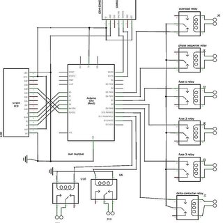 phase sequence wiring diagram C-Liquid level relay (L.L