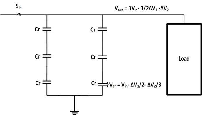 A Two Branches With Three Capacitors In Series Without Load