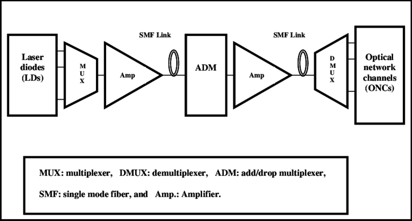 Schematic view of DWDM optical access network system
