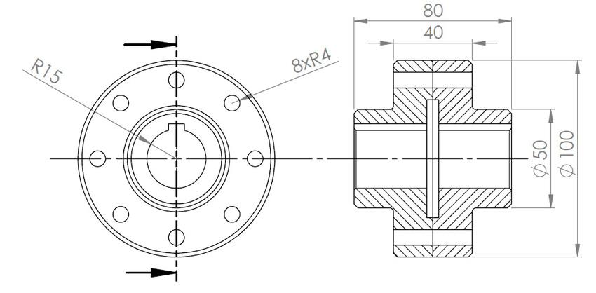 Studied Rigid Power Transmission Coupling Design