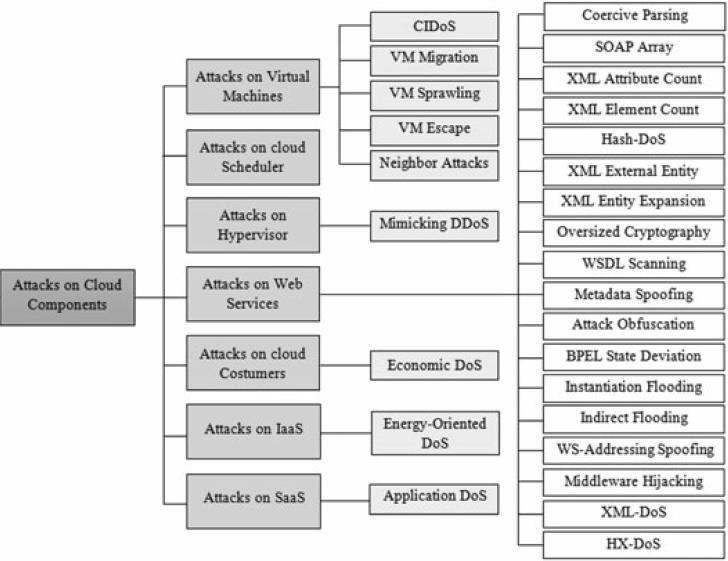 Classification of the denial-of-service attacks targeted