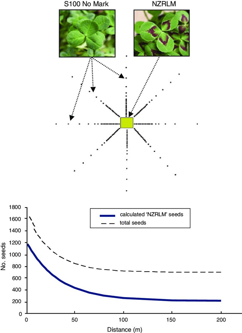 medium resolution of quantification of gene flow in white clover under australian field download scientific diagram