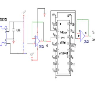 OFC Receiver with 5V to 15V level shifter for IGBT driver