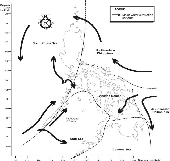 Philippine biogeographic areas important for marine