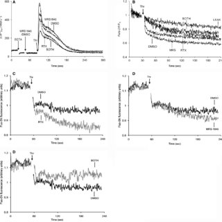 Effects on release of Ca2+ from intracellular stores of