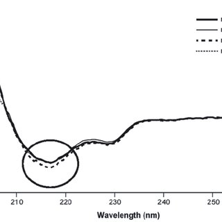 3 Far UV circular dichroism spectra of four human IgG1