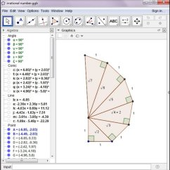 Irrational Number Diagram Doorbell Wiring Uk Construction In Geogebra For The Visualization Of Numbers