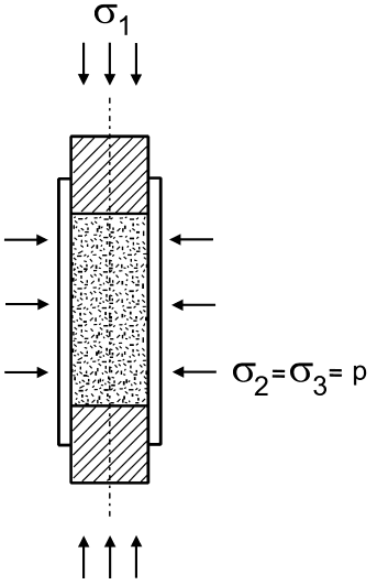 Schematic illustration of the sample loading during the