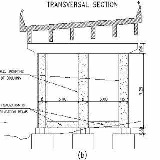 Structural rehabilitation of a framed bridge pier