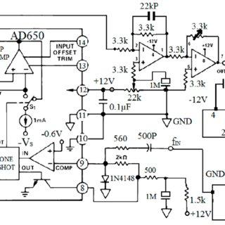 Circuit diagram of accelerometer transmitter board
