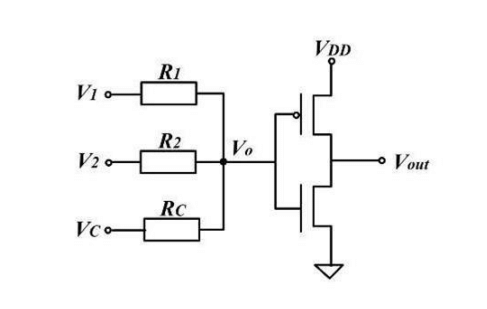 Memristive linear threshold gate in (a) NAND, NOR and (b