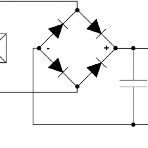 Schematic of a standard piezoelectric charging circuit