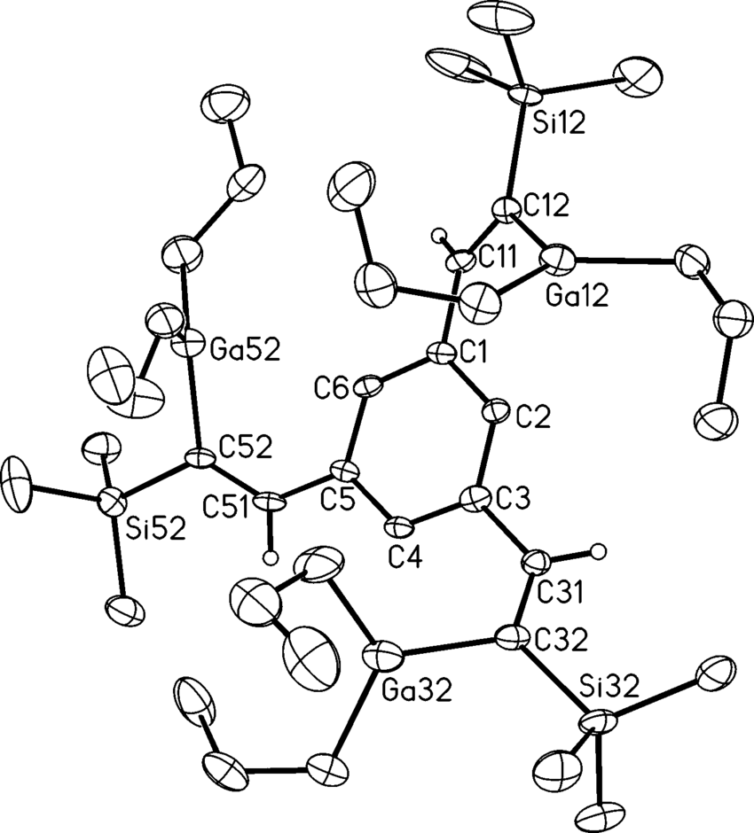 medium resolution of molecular structure of 7b the thermal ellipsoids are drawn at the 40 probability level